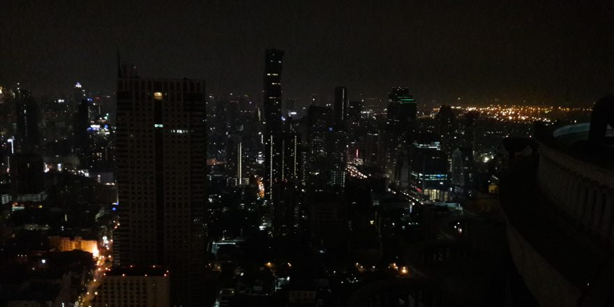 sky bar panorama di bangkok