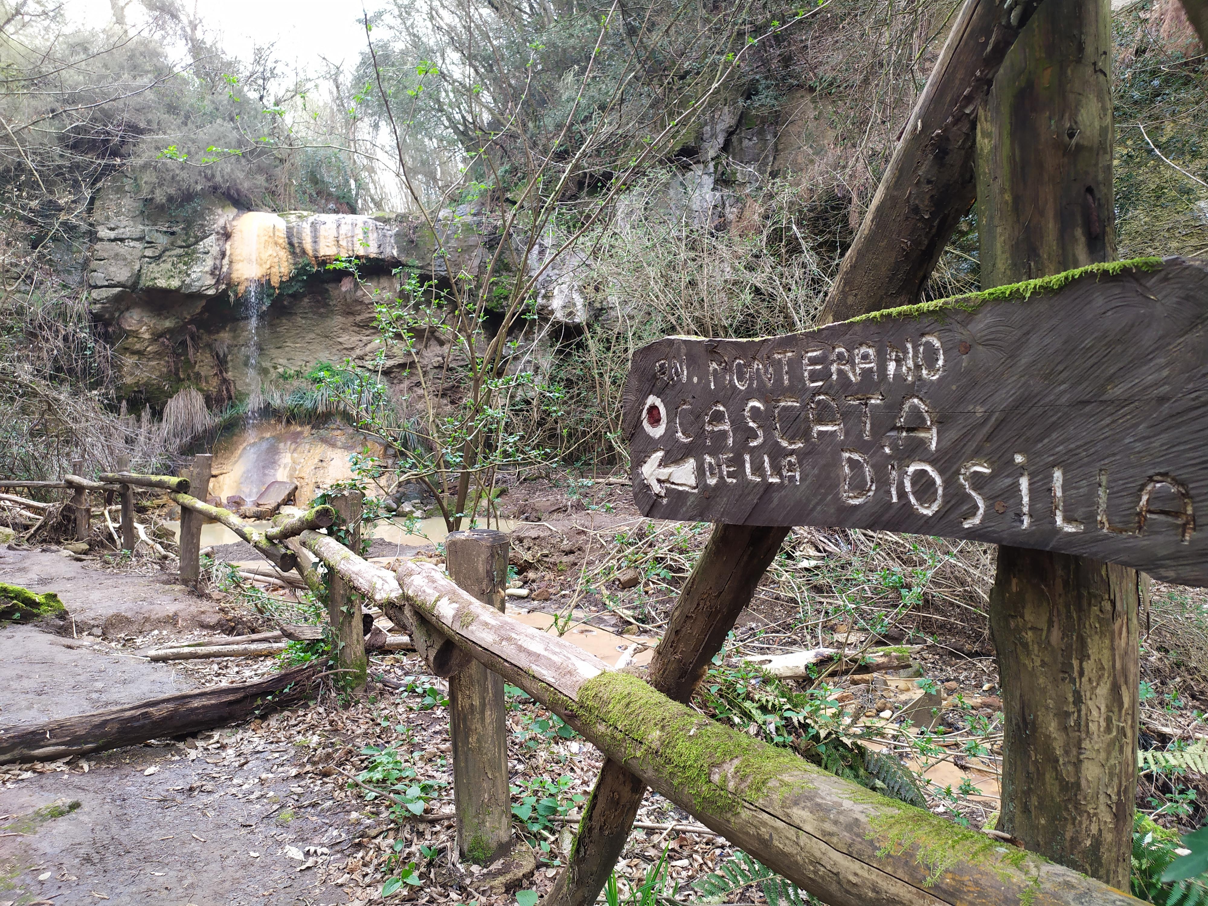 Monterano cascate di Diosilla